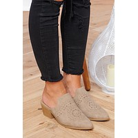 I'm Fine Heeled Mules (Warm Taupe)