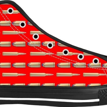 Bullets Shoes Black/Red High Tops