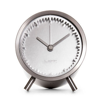 LEFF Tube Clock in Stainless Steel