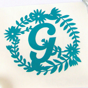 Monogram Vinyl Decal - Vinyl - Decals - Vinyl Decals - Personal Decal - Laptop Decal - Yeti Decal - Window Decal - Car Accessory - Mug Decal