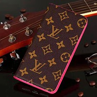 LV Louis Vuitton & Supreme New fashion monogram tartan leather couple mobile phone case protective case