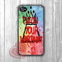 Put On Your War Paint - Fzia for iPhone 4/4S/5/5S/5C/6/ 6+,samsung S3/S4/S5,samsung note 3/4