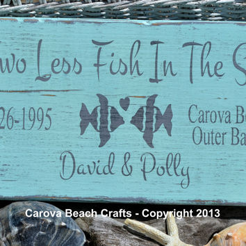 Beach Wedding Sign - Beach Wedding - Personalized - Colors Changed - Name Date Beach Location - Wedding Gift - Coastal  - Painted, No Vinyl