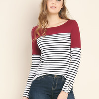 Color Blocked Striped Top