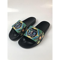New Arrival VERSACE Classic Logo Clorful MEN WOMEN Slide Sandals DSU6210-D3VKG