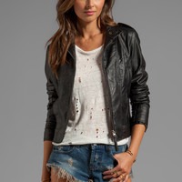 Jack by BB Dakota Bowen Dry Crinkle Faux Leather Jacket in Black from REVOLVEclothing.com