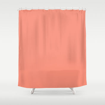 Vivid Tangerine Shower Curtain by deluxephotos