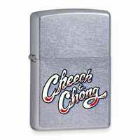 Zippo Cheech And Chong Street Chrome Lighter - Engravable Personalized Gift Item