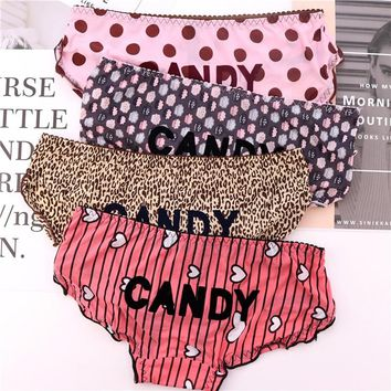 d4d6bc0ac6 Cute Sexy Laciness Candy Letters Printed Lolita Underwear Women