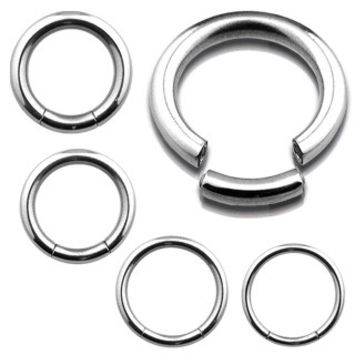 Seamless Segment Ring 16ga Surgical Stainless Steel Cartilage Tragus Earring Septum