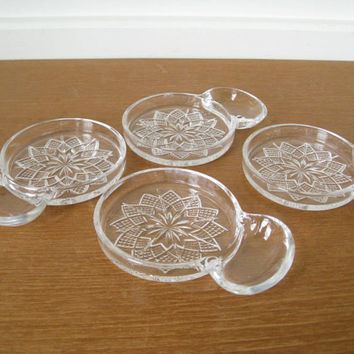 Glass coasters with attached ashtray, coaster ashtray combo, sip n smoke