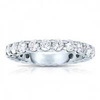 1 7/8ct tw Diamond Anniversary Ring in 14K White Gold - Diamond Rings - Jewelry & Gifts