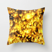 sunny bubbles  Throw Pillow by Marianna Tankelevich | Society6