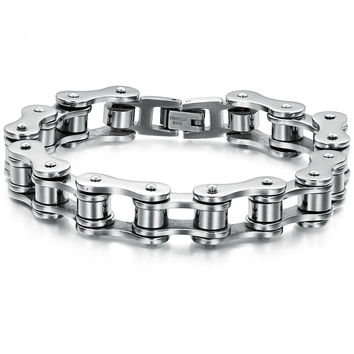 Light Motorcycle Chain Stainless Steel Bracelet