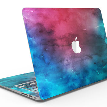 Vivid Pink 869 Absorbed Watercolor Texture - MacBook Air Skin Kit