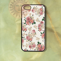 Pink and white flowers -iPhone 5, 5s, 5c, 4s, 4, Ipod touch4, 5, Samsung GS3, GS4 case-Silicone Rubber / Hard Plastic Case, Phone cover