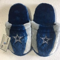 Dallas Cowboys Fuzzy SLIDE SLIPPERS New -  USA