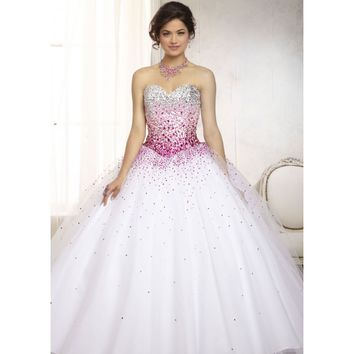 Vizcaya 88086 - White Beaded Quinceanera Dresses - RissyRoos.com
