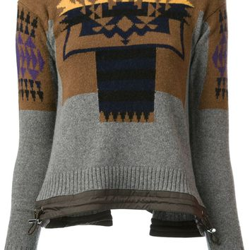 Sacai Luck Aztec pattern sweater