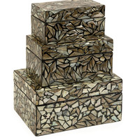 Neal Mother of Pearl Boxes - Set of 3