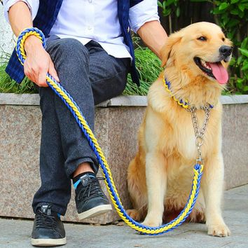 High Quality Upgraded Multicolor Adjust Collar Rope Large Dog Leashes P Chain Pet Traction Rope Collar Suit For Big Dog 28 Color