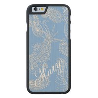 Blue and White Paisley iPhone 6 Case to Customize