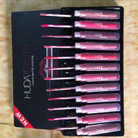 HUDA BEAUTY Liquid Matte12 Color Lip Gloss Set Matte Lip Gloss [9805596428]