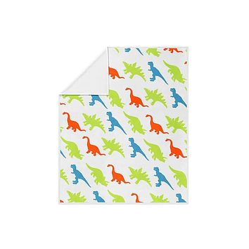 Dinosaur Pattern Fleece Blanket