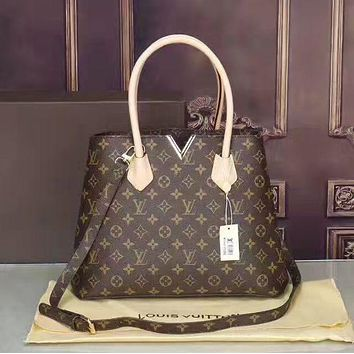 LV Louis Vuitton Women's Tide Style Fashion Wild Leather Tote F/A