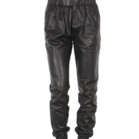 KRUSH GIRLZ — Faux leather jogger pants