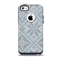 Knitted Snowflake Fabric Pattern Skin for the iPhone 5c OtterBox Commuter Case