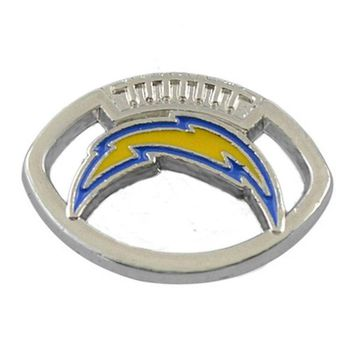 Hot Sale Alloy San Diego Chargers Charms Sport Team Logo Bracelet Connector Jewelry