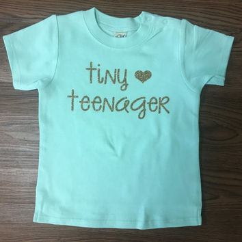 Tiny Teenager mint and gold