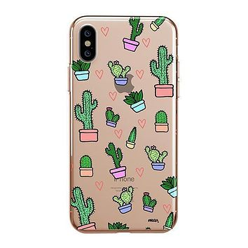 Cactus Love - iPhone Clear Case