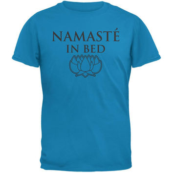 Namaste In Bed Sapphire Blue Adult T-Shirt