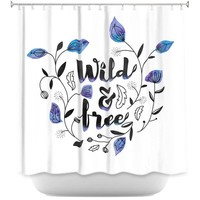 Shower Curtains By Zara Martina Wild and Free Blue
