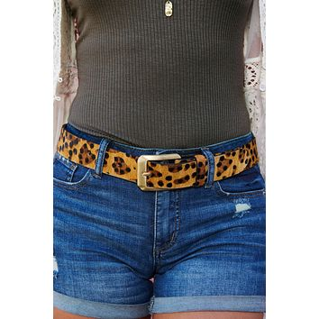 Wildcat Belt (Caramel Cheetah)