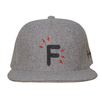 Homegrown Snapback Hat in light grey