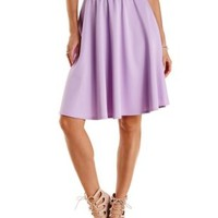 Scuba Knit Full Midi Skirt by Charlotte Russe