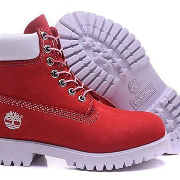 Timberland 6 Inch Premium Waterproof Boot Red White