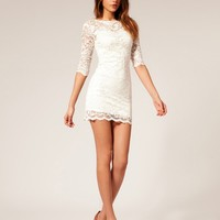 White nice lace dress