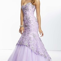 Long Sweetheart Lace Mermaid Gown