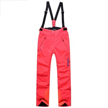 2018 winter new ladies ski pants windproof thick warm ladies ski suit fishing hunting mountain ladies outdoor sports trousers