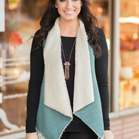 Fur and Lace Tapered Vest