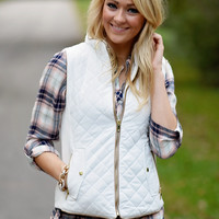 Quilted Vest - Ivory