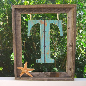 Wreath Custom Initial Frame, Spring Summer Wreath, Coastal Home Decor, Mother's Day, Wedding Gifts, Housewarming, Wedding Decor