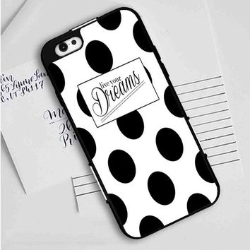 Kate Spade Live Your Dreams Polka Dots iPhone Case