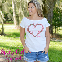 womens hunting shirt hunting clothing heart antler design