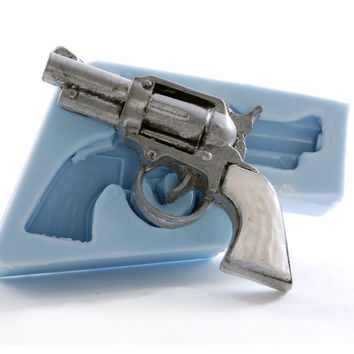 Pistol Mold - Wild west gun mold - Pistol soap mold - Gun wax mold - Resin gun mold - Candle western Mold - PMC Mold