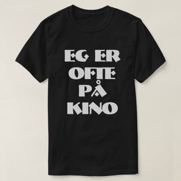 I often go to the cinema in Norwegian black T-Shirt